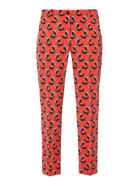 Easy Pants mit Allover-Muster Orange - 1