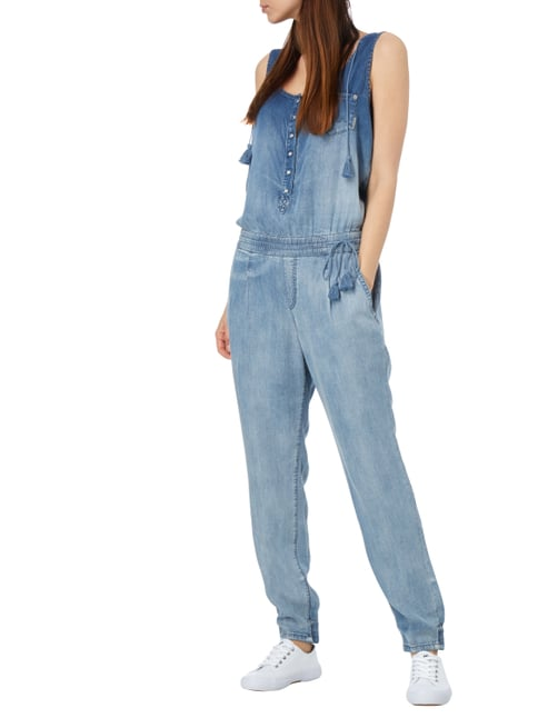 Marc Cain Collections Jumpsuit im Stone Washed Look in Blau / Türkis - 1