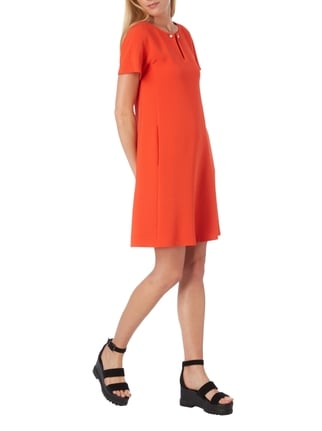 Marc Cain Kleid in A-Linie mit Schmuckdetail in Orange - 1