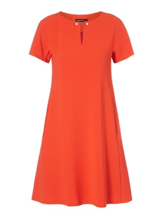 Kleid in A-Linie mit Schmuckdetail Orange - 1