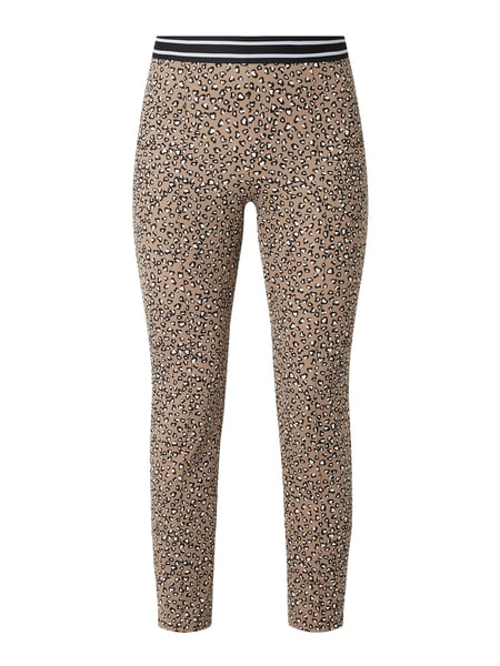 Marc Cain Leggings mit Animal-Print Beige - 1