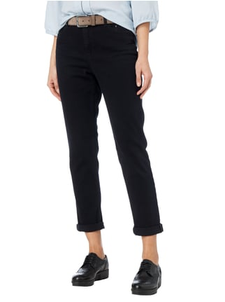 Marc Cain Collections Mid Rise Comfort Fit Hose im 5-Pocket-Design Schwarz - 1