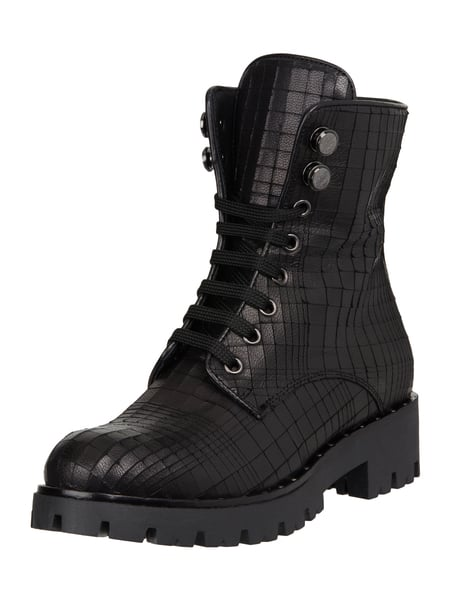 Marc Cain Bags & Shoes Military Boots aus Leder Schwarz