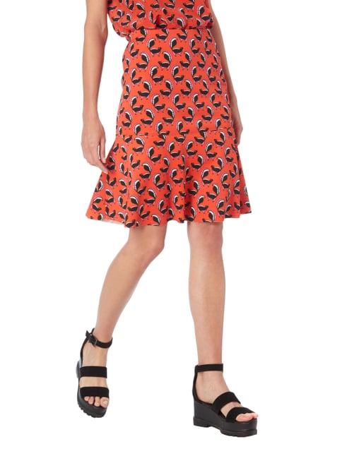 Marc Cain Rock mit Allover-Muster Orange - 1