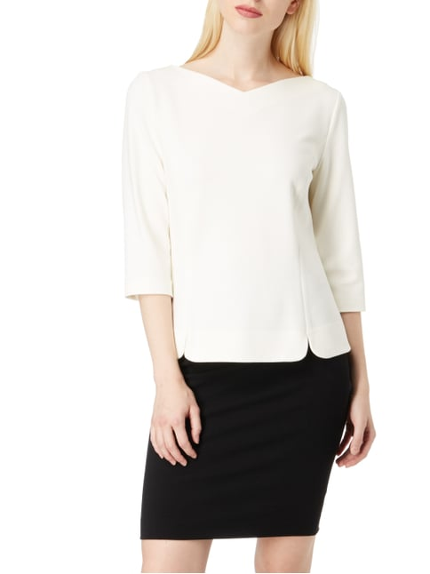 Marc Cain Additions Shirt aus Krepp Offwhite - 1