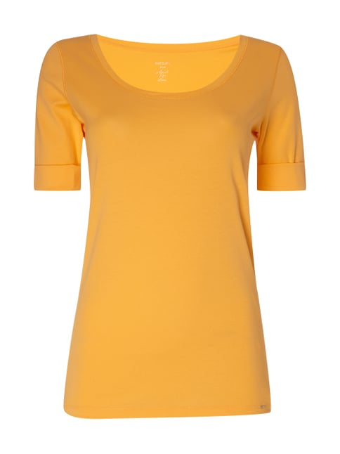 Shirt mit 1/2-Arm Orange - 1