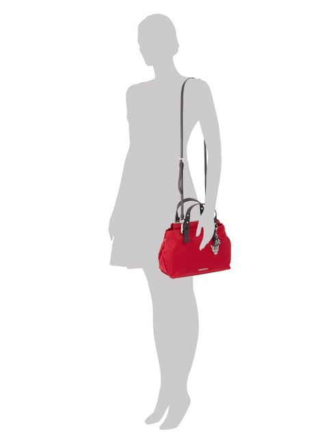 MARC CAIN BAGS & SHOES Shopper mit Trageriemen aus Leder in Rot - 1