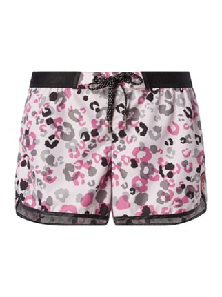 Shorts mit Leopardenmuster Rosé - 1