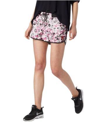 Marc Cain Collections Shorts mit Leopardenmuster Hellrosa - 1