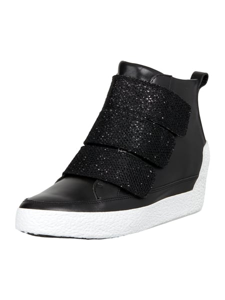 Marc Cain Bags & Shoes Sneaker Wedges aus Leder Schwarz