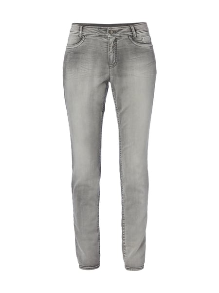 Marc Cain Stone Washed Slim Fit Jeans Mittelgrau