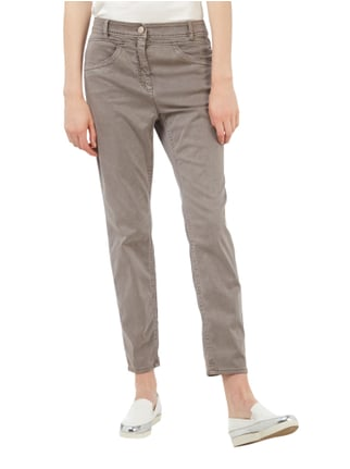 Marc Cain Collections Straight Fit Hose mit Pailletten-Detail Taupe - 1