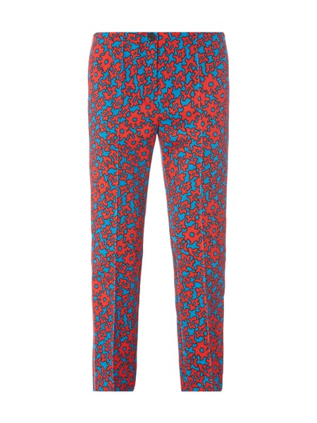 Marc Cain Stretchhose mit Allover-Muster Blau