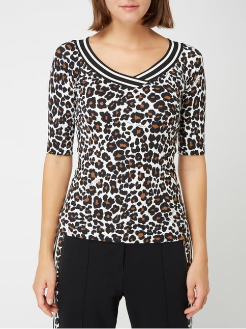 5044a0ca7b10 ... Marc Cain T-Shirt mit Leopardenmuster Offwhite - 1