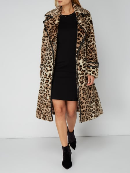 MARC-CAIN Trenchcoat aus Webpelz mit Leopardenmuster in Braun online ... 4b41ebc52e