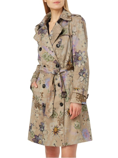 Marc Cain Collections Trenchcoat mit floralem Muster Sand - 1
