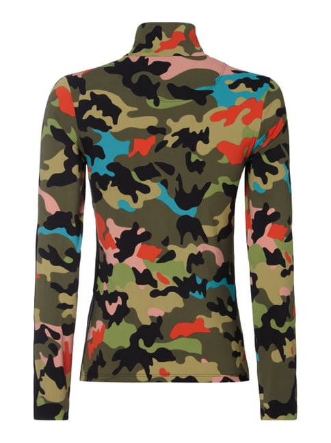 Marc Cain Troyer mit Camouflage-Muster Schwarz - 1
