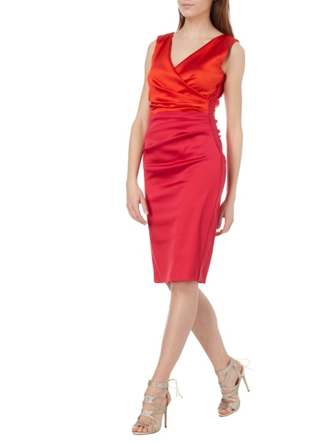 Marc Cain Collections Two-Tone-Kleid aus Satin in Rosé - 1