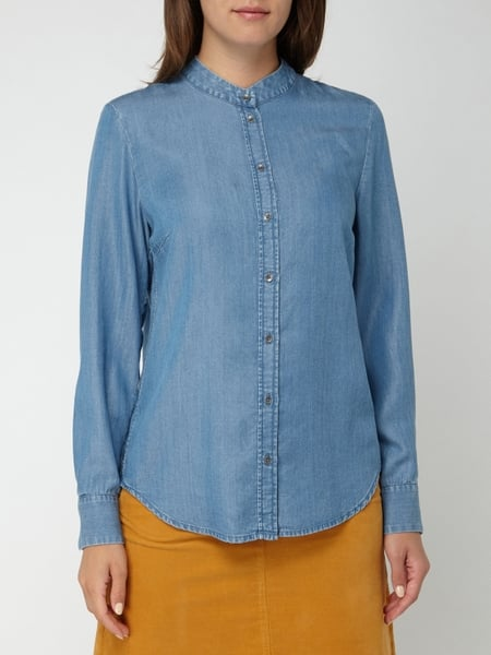 Marc O'Polo – Bluse aus Lyocell in Denim Optik – Bleu