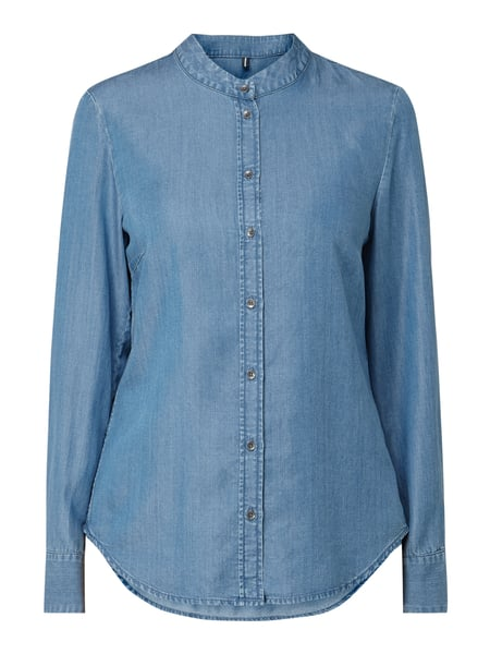 Marc O'Polo Bluse aus Lyocell in Denim-Optik Blau - 1