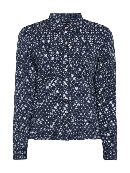 Marc O'Polo Bluse mit floralem Muster Dunkelblau