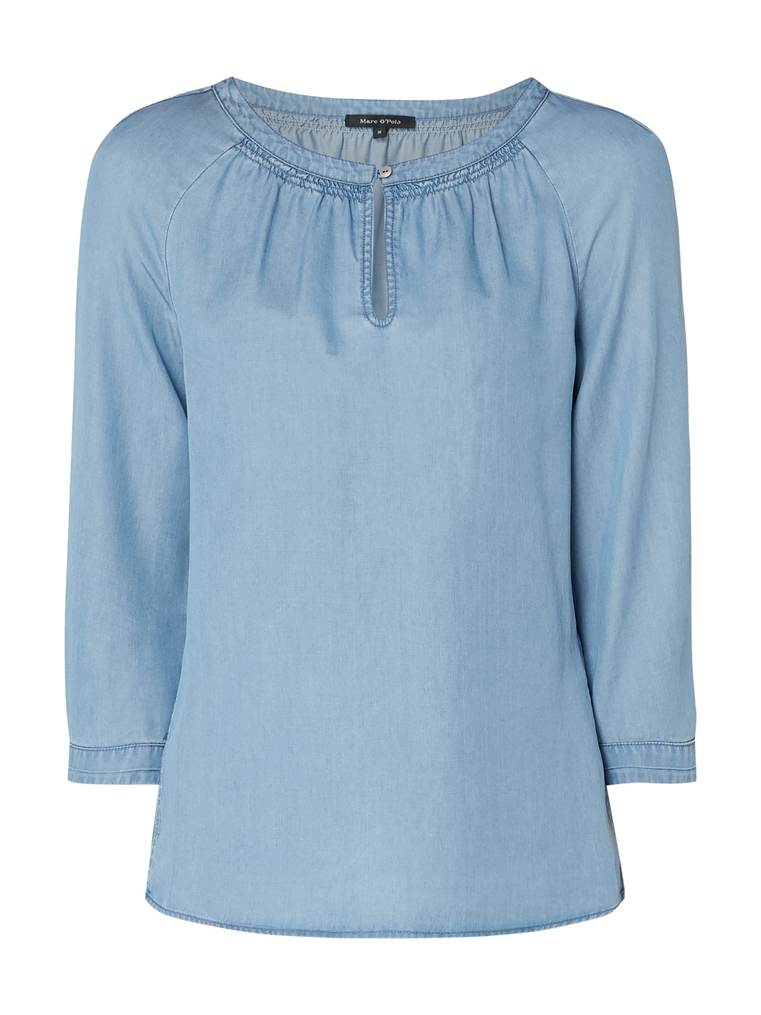 MARC O POLO Blusenshirt in Denimoptik in Blau Türkis online kaufen (4008563) ▷ P&C Online Shop