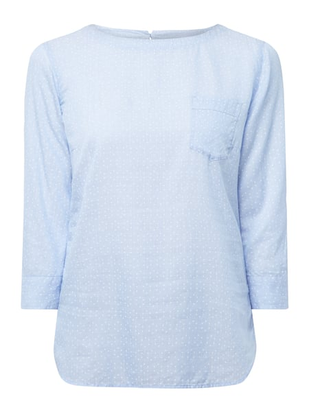 2c318568f6 MARC-O-POLO Blusenshirt mit Allover-Muster in Blau / Türkis online ...