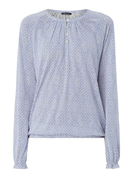 Marc O'Polo Blusenshirt mit Allover-Muster Offwhite