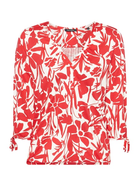 Marc O'Polo Blusenshirt mit floralem Muster Rot