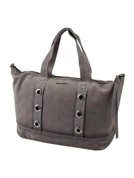 marc o polo bowling bag aus veloursleder in grau schwarz online kaufen 9627633 p c online shop. Black Bedroom Furniture Sets. Home Design Ideas