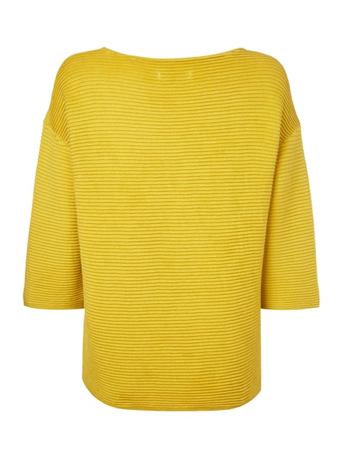 Marc O'Polo Boxy Fit Pullover im Rippenstrick Senfgelb - 1
