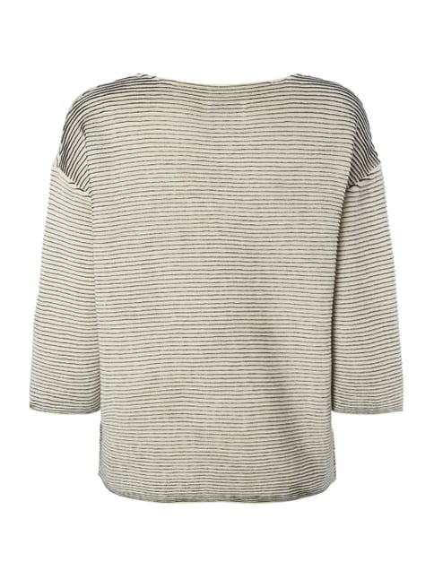 Marc O'Polo Boxy Fit Pullover mit Rippenstruktur Offwhite - 1
