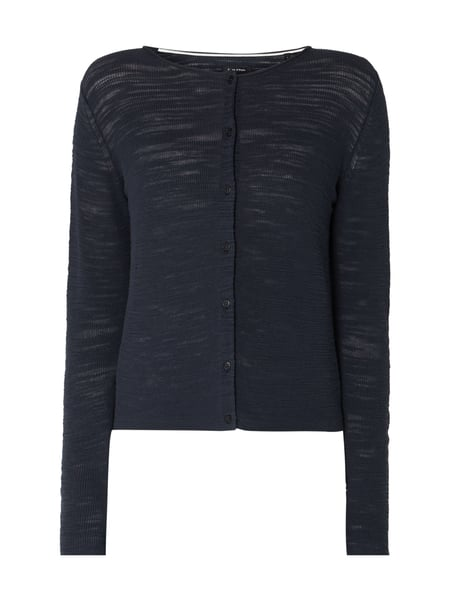 Marc O'Polo Cardigan mit Logo-Applikation Blau / Türkis - 1