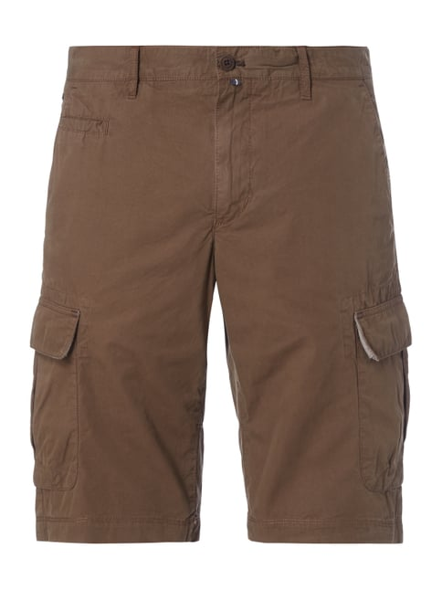 Cargobermudas im Washed Out Look Braun - 1