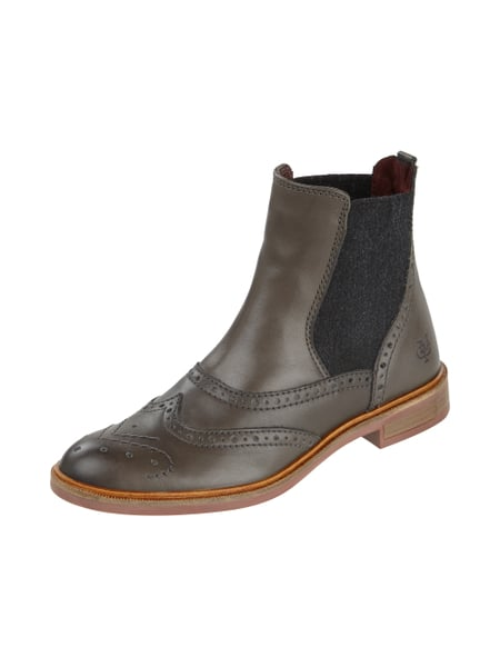marc o polo chelsea boots mit lyralochung in grau. Black Bedroom Furniture Sets. Home Design Ideas