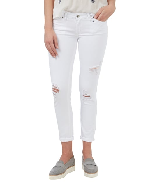 Marc O'Polo Denim Cropped 5-Pocket-Jeans im Destroyed Look Weiß - 1
