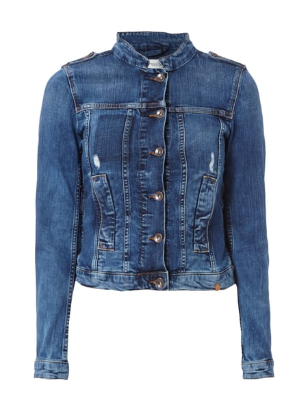 ccf4404152 MARC-O-POLO-DENIM Jeansjacke im Used Look - kurz in Blau / Türkis ...