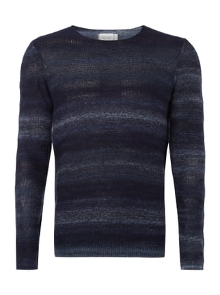 Pullover im Inside-Out-Look Blau / Türkis - 1