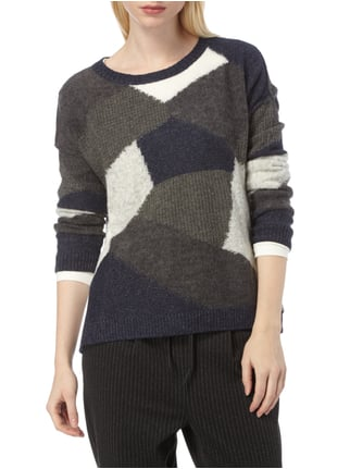 Marc O'Polo Denim Pullover im Patchwork-Stil Marineblau - 1