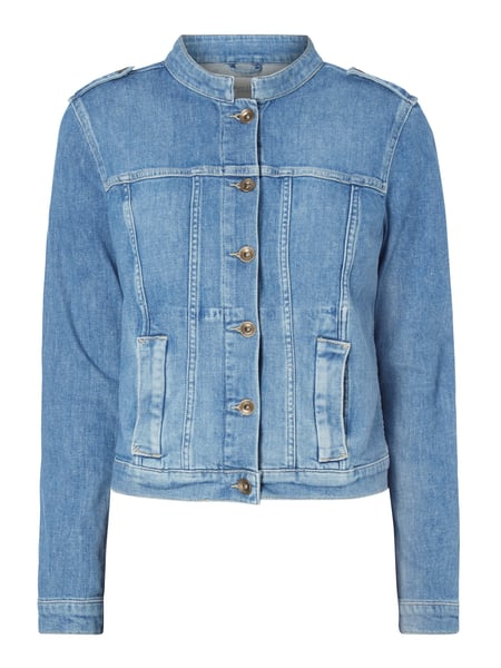 8641916405 Marc O'Polo Denim Stone Washed Jeansjacke mit Stretch-Anteil Blau / Türkis -