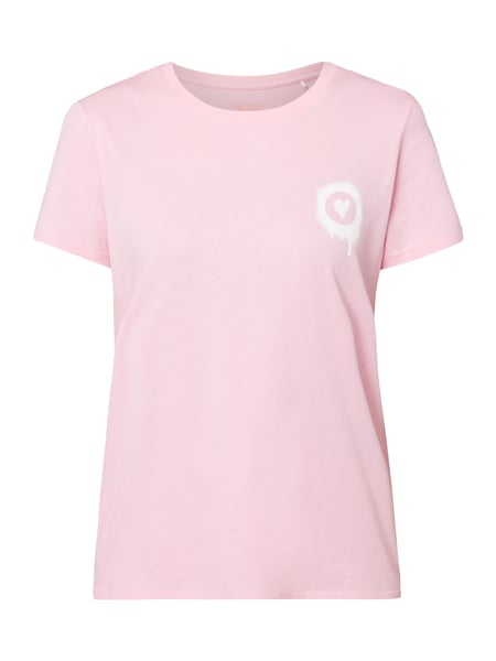 Marc O'Polo Denim T-Shirt mit Print Rosa