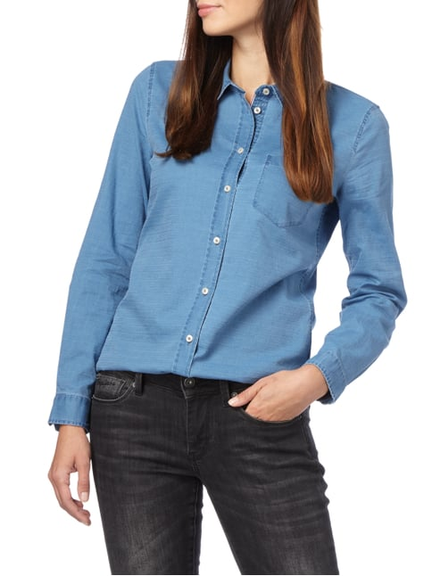 Marc O'Polo Hemdbluse in Denimoptik Jeans - 1