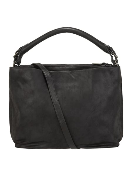 marc o polo hobo bag mit trageriemen aus leder in grau schwarz online kaufen 9737380 p c. Black Bedroom Furniture Sets. Home Design Ideas