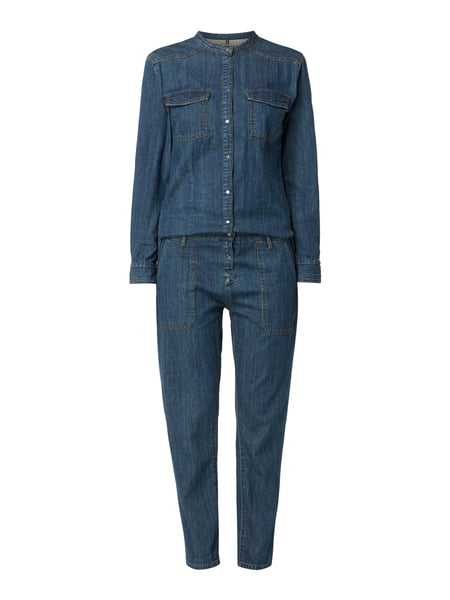 Marc O'Polo Jumpsuit aus Denim mit Cut Out Blau - 1