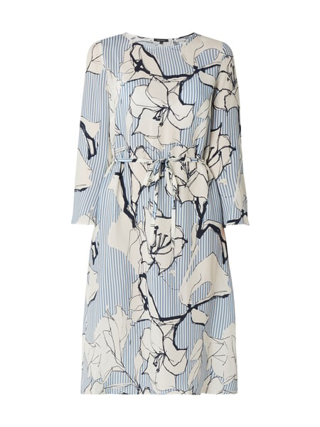 uk availability 435d5 4f438 Marc O'Polo – Kleid mit Allover-Muster – Bleu