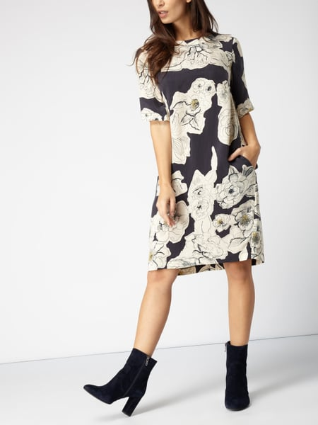 timeless design 808c0 361f3 Marc O'Polo – Kleid mit floralem Muster – Graphit
