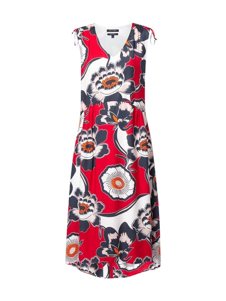 Marc O'Polo Kleid mit floralem Muster Rot