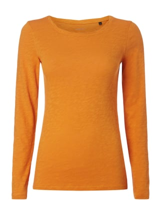 Longsleeve aus Baumwolle Orange - 1