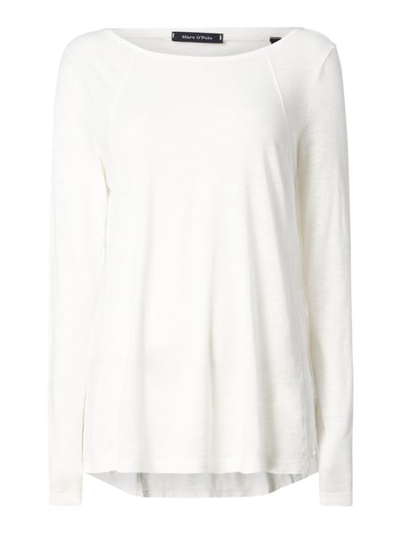 Marc O'Polo Longsleeve mit Rundhalsausschnitt Offwhite