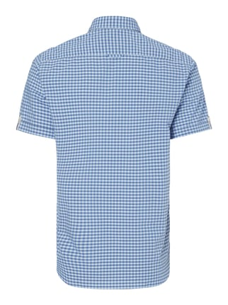 Marc O'Polo Regular Fit Freizeithemd mit kurzem Arm Blau - 1
